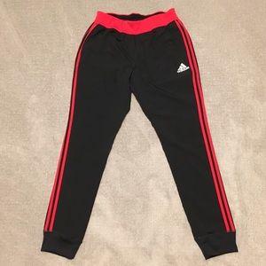 Men's Large Tapered Adidas Black/Red Training Pant